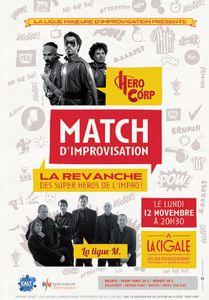 Match d'improvisation : Hero Corp contre la Ligue Majeure d'Improvisation
