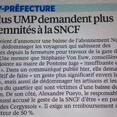 Le Parisien 95 reprend nos demandes d'indemnisation des usagers de la gare de Cergy-Préfecture - Le blog des Républicains de Cergy