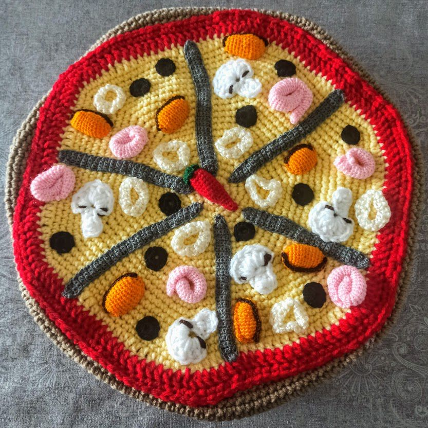 pizza aux fruits de mer : crochet