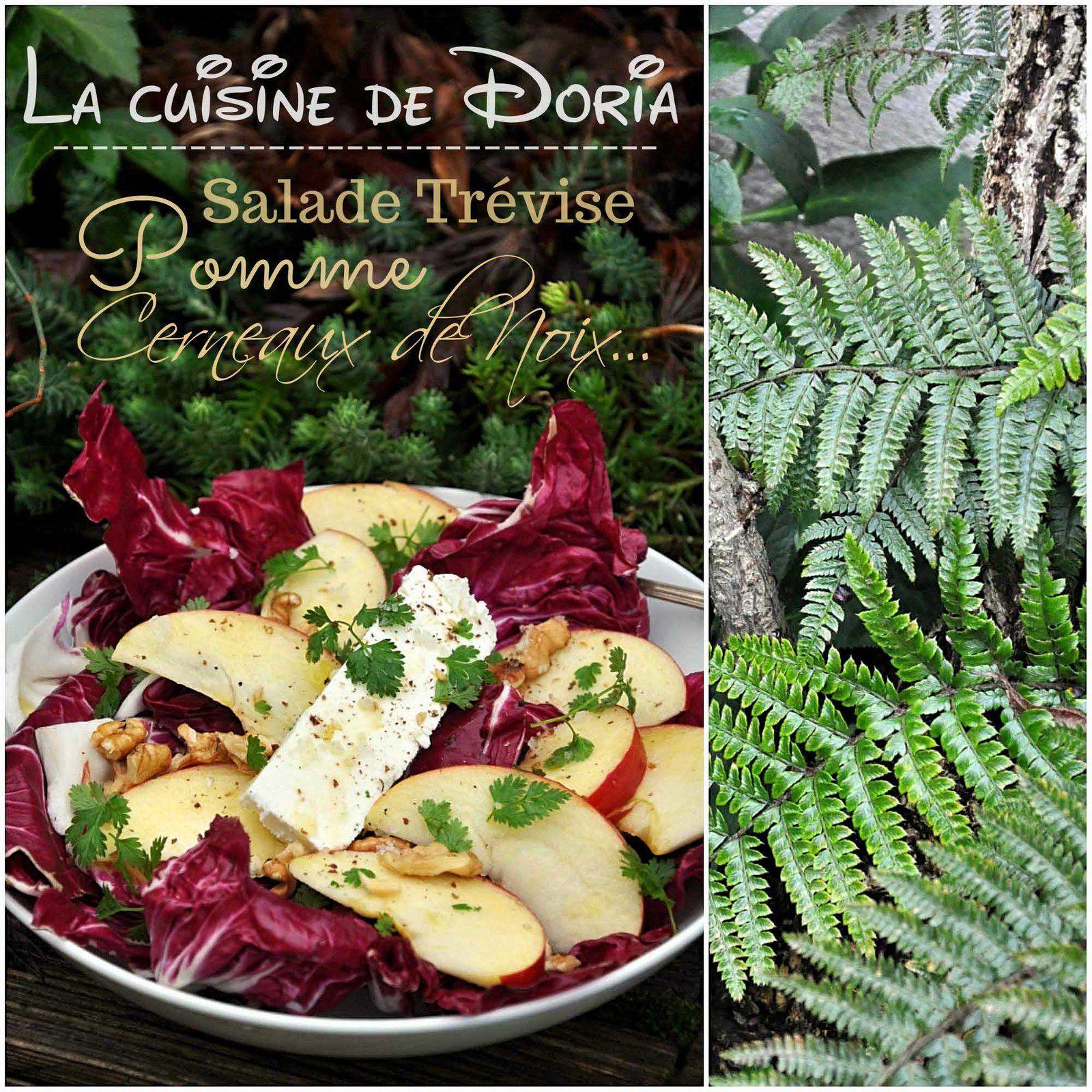 Salade de trévise aux pommes, noix et feta