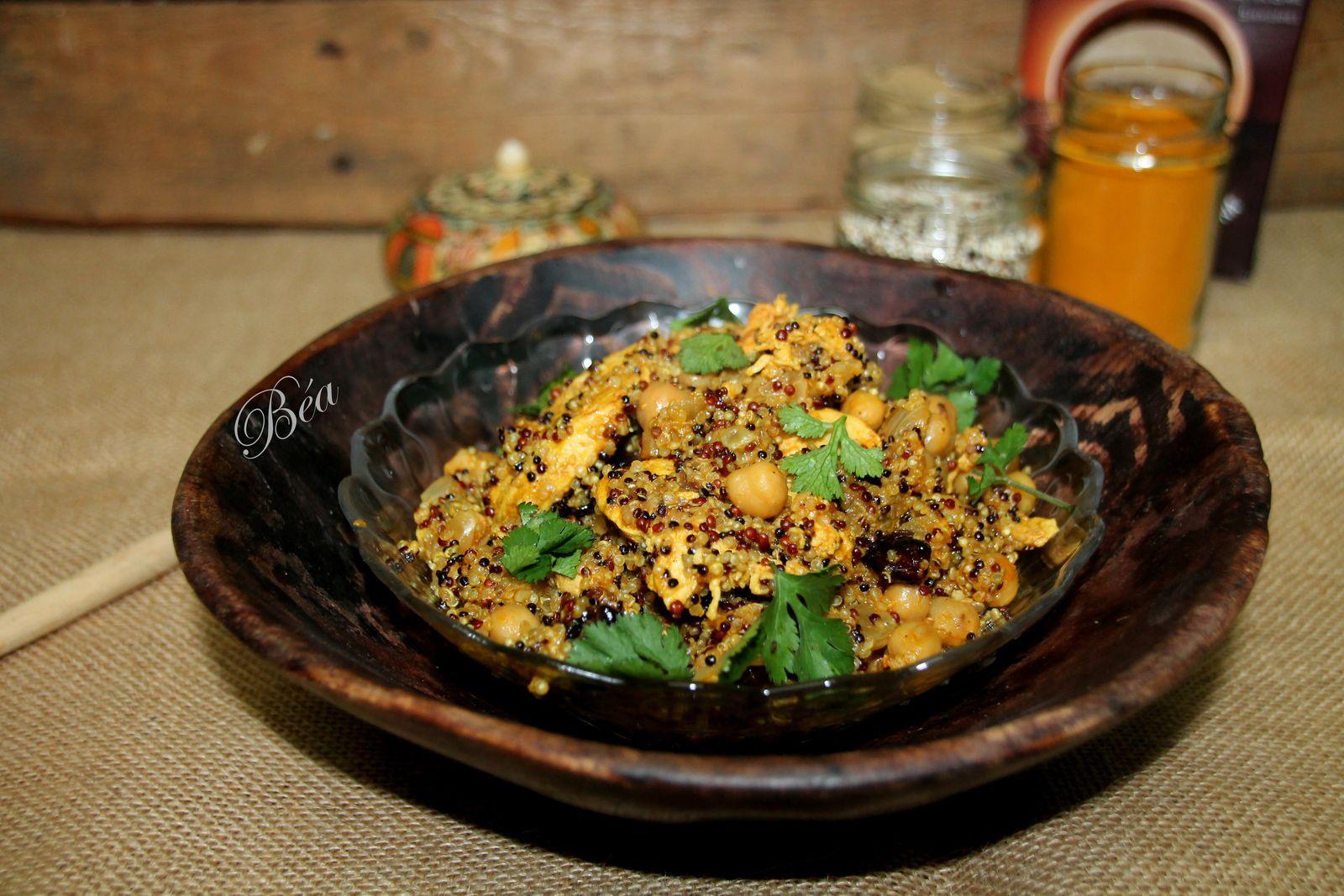 One pot de quinoa et  poulet au garam masala