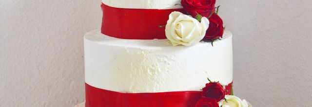 Wedding cake Glam Blanc & Rouge