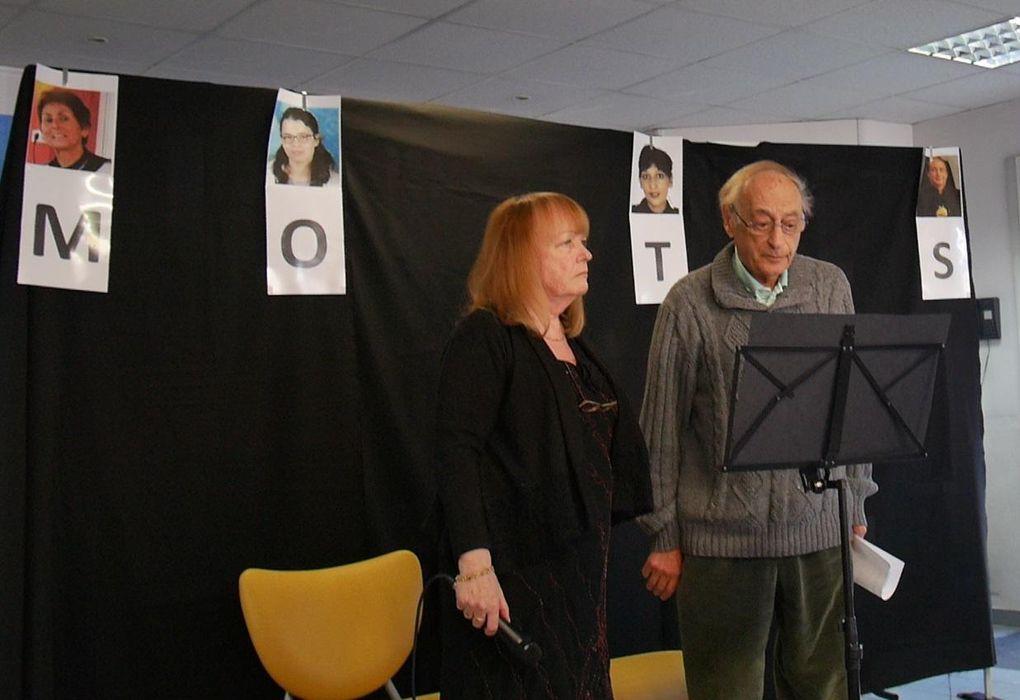 la fête des mots 7 mars 16 h spectacle de lectures animées et remise des prix  du 10 e concours.