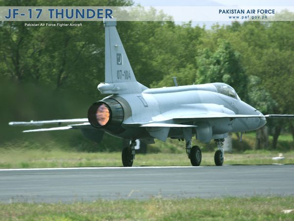 "Photo : © Pakistan Air Force - Décollage d'un ""Thunder"" pakistanais."