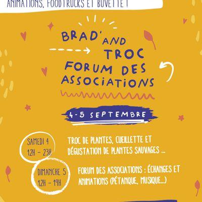 Guinguettes Made in Fives 4 et 5 septembre : brad' and troc et forum des associations