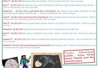 Le programme jeunesse de votre EPN FabLab site de Saint-James