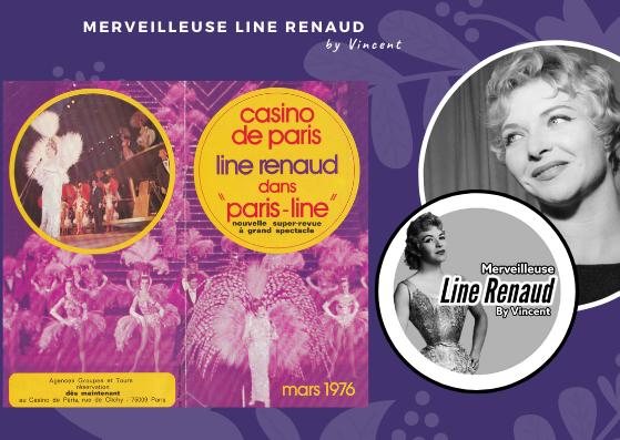 PROGRAMME: Flyer Casino de Paris Line Renaud dans Paris-Line - 1976