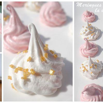 Meringues goût Cola et meringues vanille...