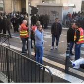 La CGT des Bouches du Rhôneenvoie son service d'ordre pour protéger les lycéen.ne.s des CRS - Front Syndical de Classe