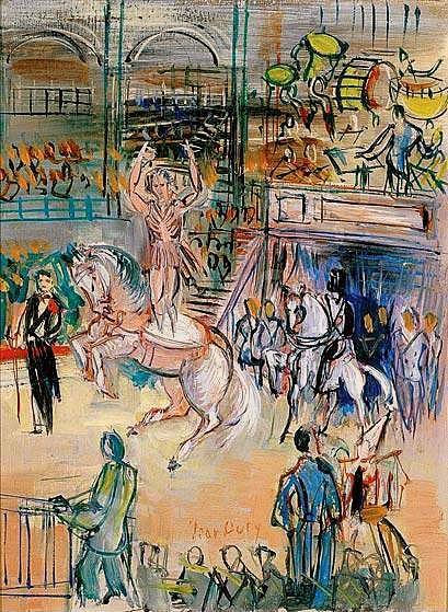 Quelques peintures du temps du cirque Medrano (ex Fernando) de Paris
