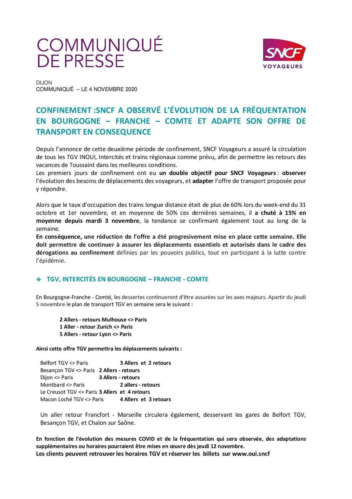 SNCF : Adaptation de son offre de transport pendant le confinement