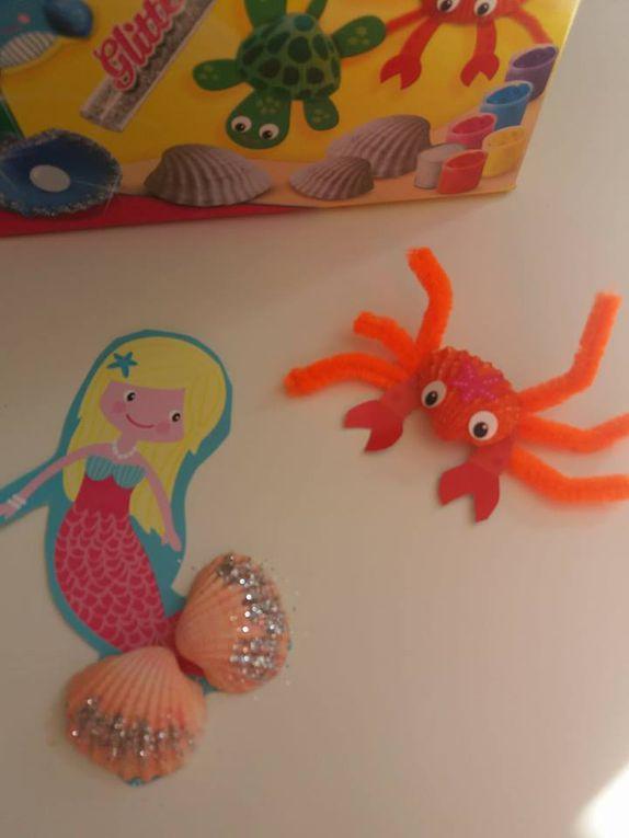 Peindre des coquillages avec  SES Créative - activités manuelles et créatives