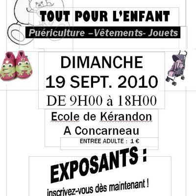 """TROC ET PUCES """" Tout pour l'enfant"""" , le 19/09/2010"""
