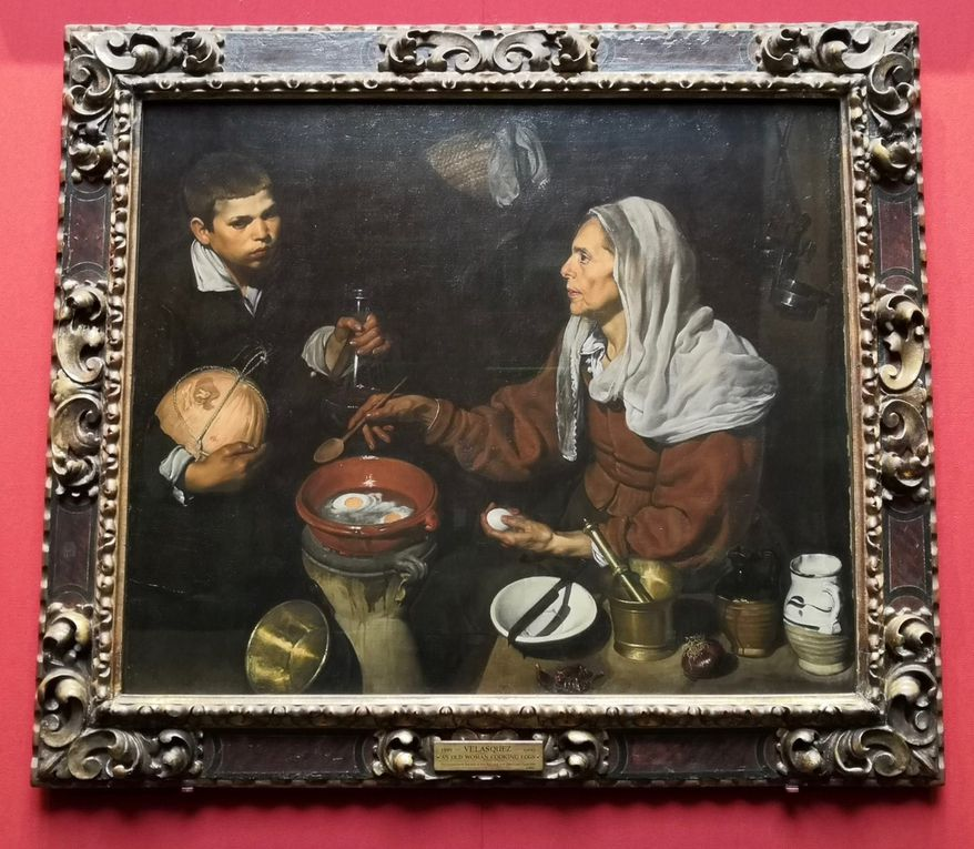 Diego Velazquez, An Old Woman Cooking Eggs, 1618, Oil on canvas