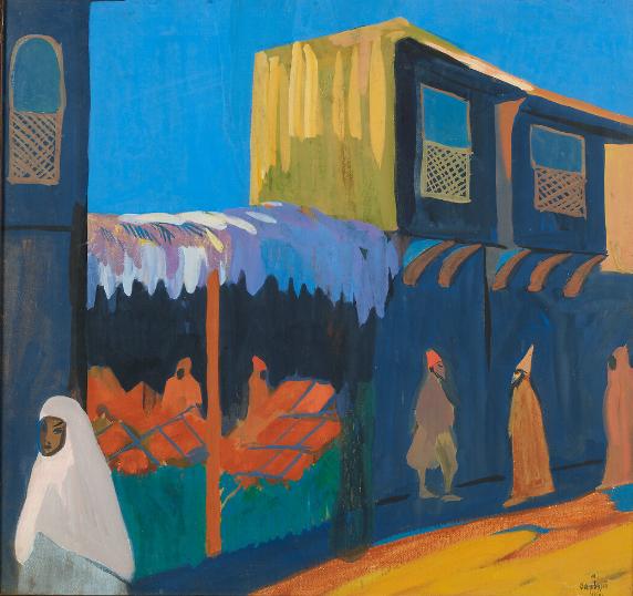 Martiros Sarian, La Rue. Constantinople, Constantinople (Istanbul), 1910. Tempera sur carton 60,2 × 63,8 cm. Galerie nationale Trétiakov, Moscou.