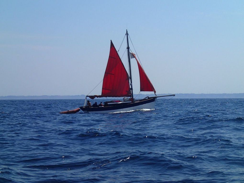 navigation en mer d'Iroise, août 2015