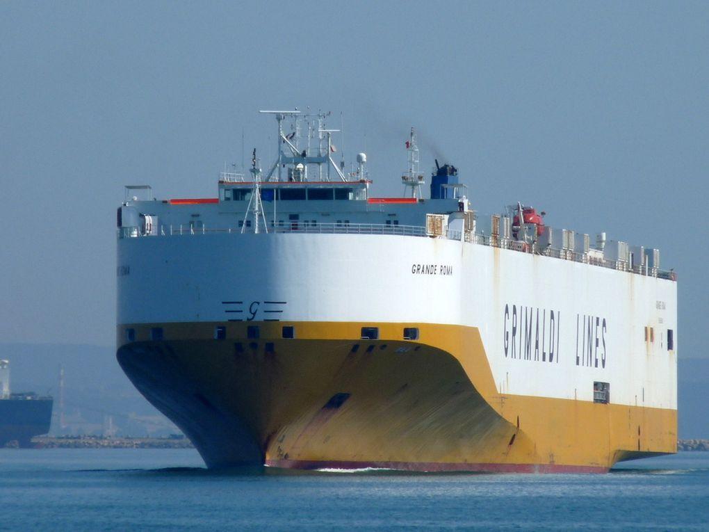 GRANDE ROMA , Arrivant en darse n° 3 dans le port de Fos sur Mer le 16 mars 2017