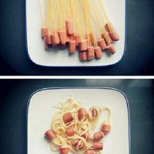 Des colliers de saucisses...