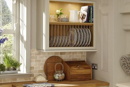 A plate rack and the