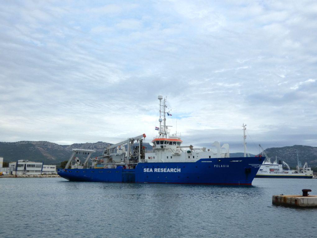 PELAGIA , navire de recherche hollandais arrivant à la Seyne sur Mer le 16 octobre 2020