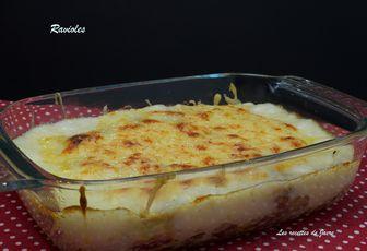 Gratin de ravioles du Dauphiné et champignons