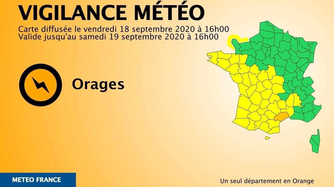 Hérault: vigilance orange ce week-end