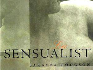 Couverture française et exemple de page intérieure de La sensualiste (1998)