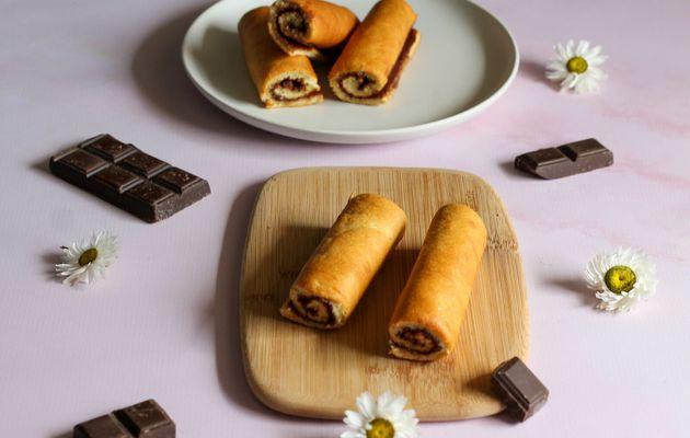 Mini roulés aux chocolat