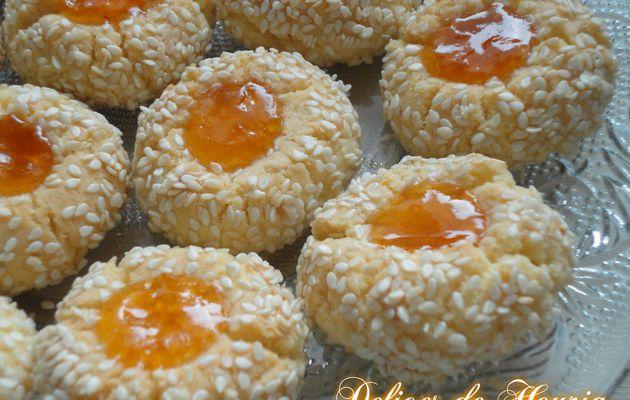 Sablés à l'abricot et aux graines de sésame