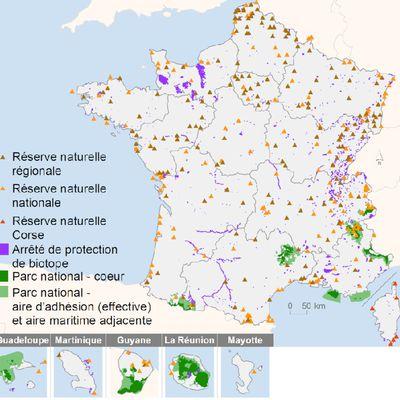 Espaces naturels en France.
