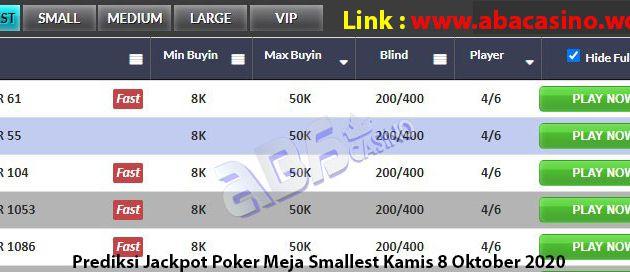 Prediksi Bocoran Jackpot Poker Kamis 8 Oktober 2020