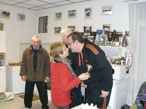 La présidente entourée de William TARDY et de René LAFOND