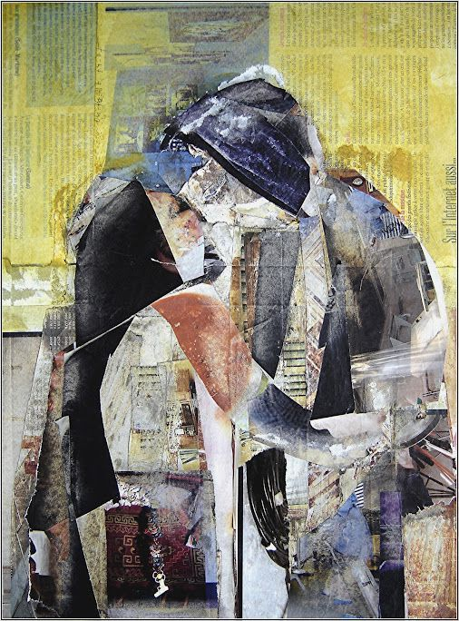 Tableau Collage Tendresse 32x42 cms site: http://guy-garnier-collages.com