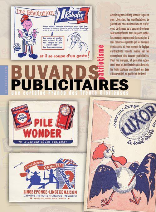 Les Buvards publicitaires, une certaine France des Trente Glorieuses : exposition à louer/imprimer