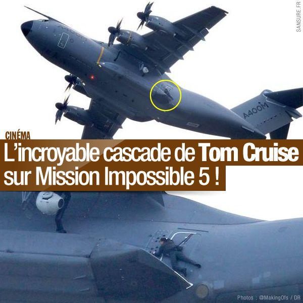 L'incroyable cascade de Tom Cruise sur Mission Impossible 5 ! #MI5