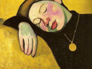 1907 - Jeune fille endormie - huile sur toile 46x55cm ; Deux fillettes finlandaises - huile sur toile 60,5x79cm ; Jeune Finlandaise - huile sur toile 80x64 cm : Nu jaune - huile sur toile 64,5x98cm