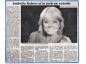 Isabelle AUBRET à la fête de la musique à Algrange, en 1991