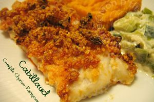 Cabillaud au Crumble Chorizo-Parmesan