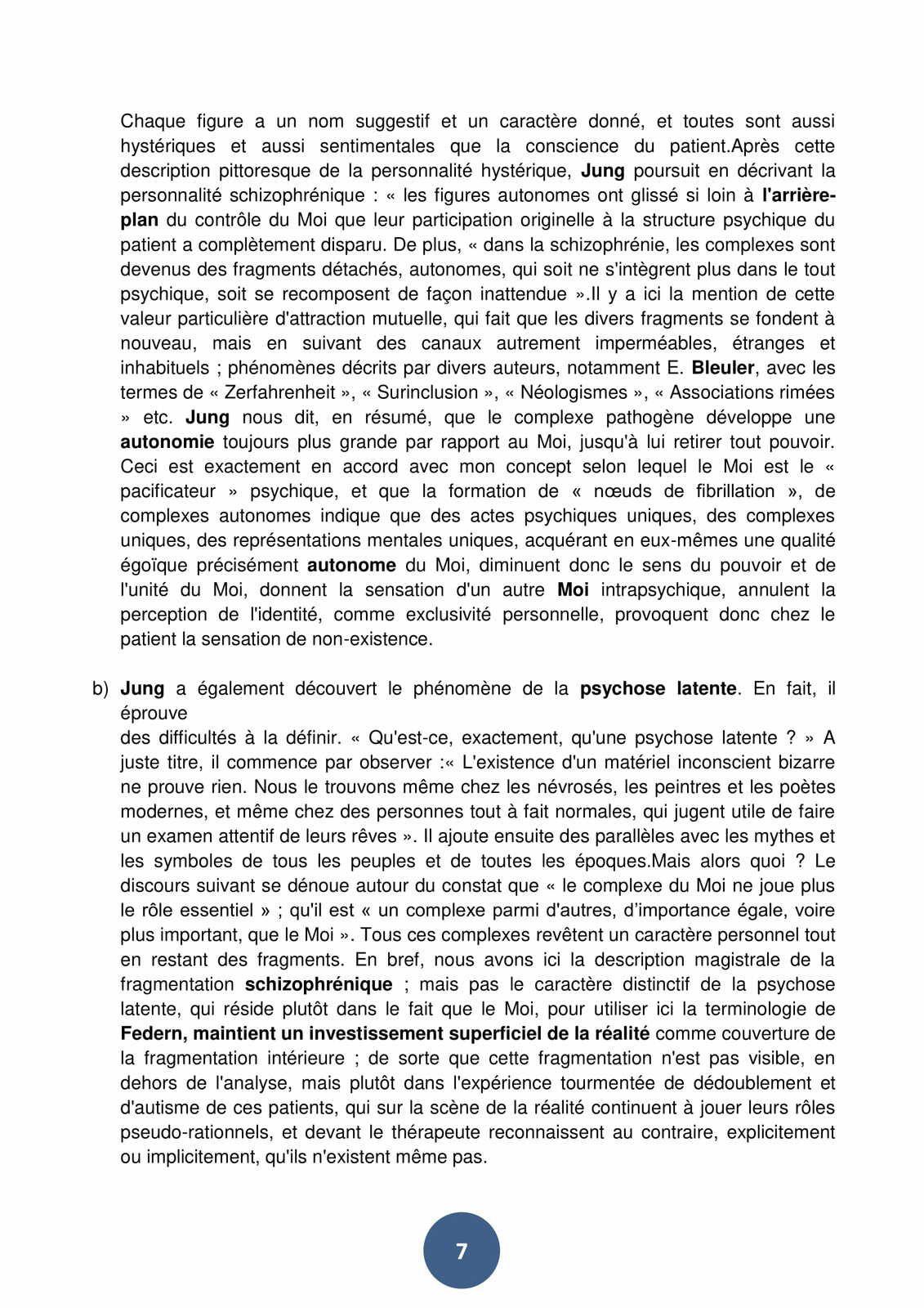 JUNG ET LA SCHIZOPHRENIE /Discours du Prof. Gaetano Benedetti Gaglio au 60me anniversaire  de la mort du père de la psychanalyse Carl Gustav Jung, dont le Professeur était l'élevé et le disciple.