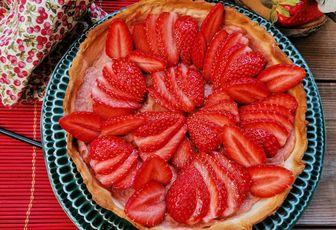 TARTE RHUBARBE ET FRAISE / Dessert