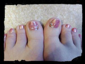 Deux Nail Art spécial beauté des pieds....
