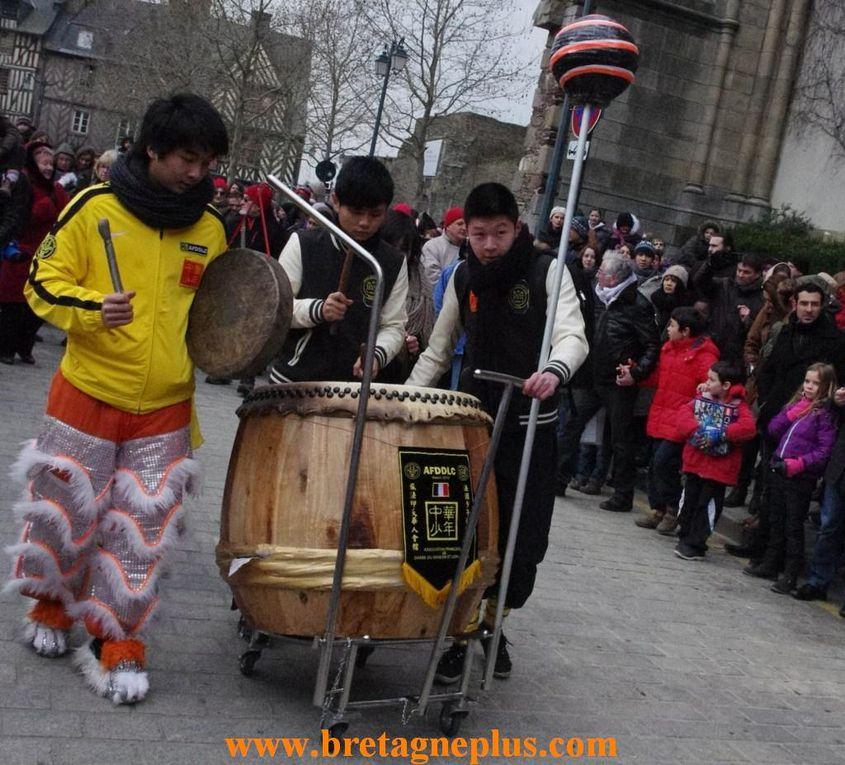 Dans le cadre de la semaine chinoise qui débutait à Rennes,  ce samedi 23 février. Au programme de ces festivités,se déroulait le défilé du nouvel an chinois.