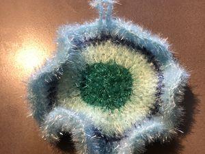 """Pastèque issu du livre """"Creative Bubble Yummy : de drôles d'éponges à crocheter pour la vaisselle !"""""""
