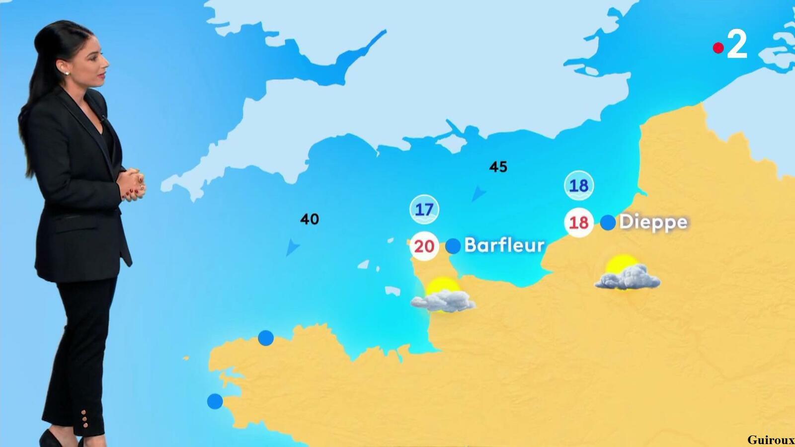 Virginie Hilssone-Lévy 28/08/2021 Journaux météo du soir + météo des plages