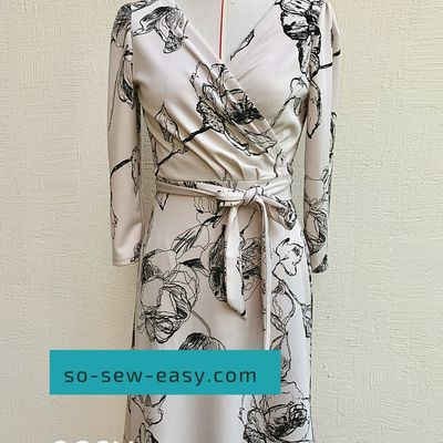 Patron robe portefeuille: taille S  à 2 XL