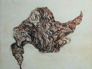Eau-forte et pointe sèhe, 34 x 34 cm