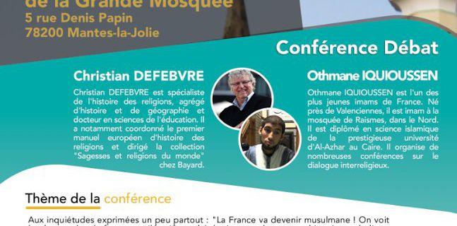 """""""La paix soit avec toi. Oui, les religions sont faites pour réunir !"""", conférence-débat le 9 février 2018 à MANTES-LA-JOLIE"""