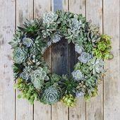 DIY couronne de plantes succulentes/grasses - POM & GUS