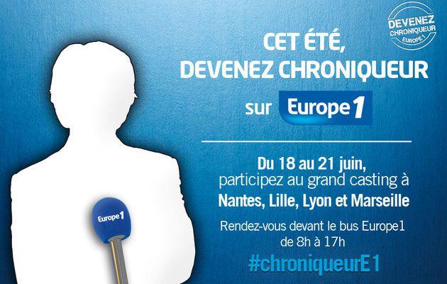 Europe 1 part en tournée pour trouver le chroniqueur de demain