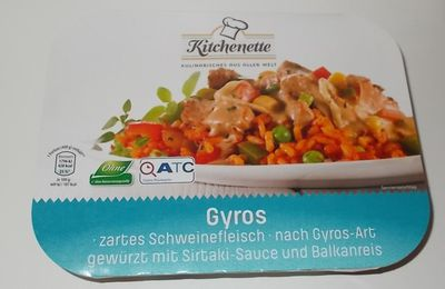 Aldi Kitchenette Gyros mit Sirtaki-Sauce und Reis
